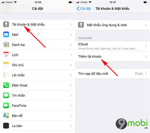 cach dong bo danh ba gmail voi iphone ipad 2