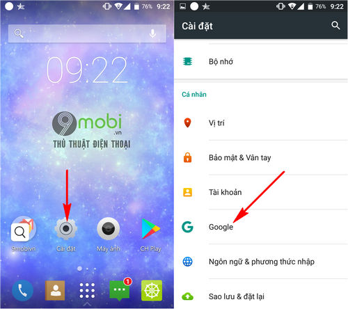 cach dong bo danh ba len gmail dien thoai android 2