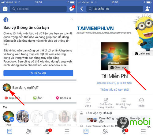 cach dung video lam anh dai dien facebook tren android iphone 2