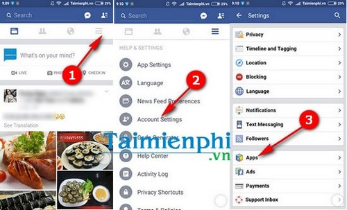 How to delete the Facebook connection app for android