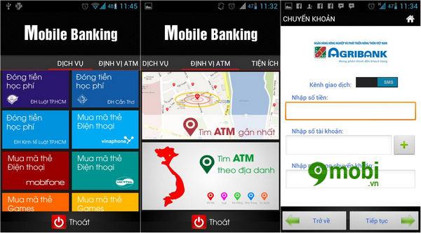 cach kiem tra so du agribank tren dien thoai android iphone 2
