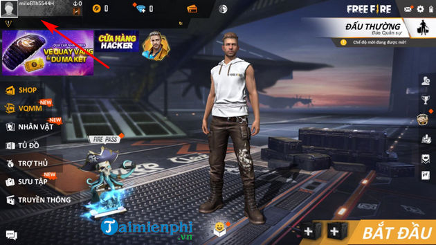 how to set id in garena free fire 2
