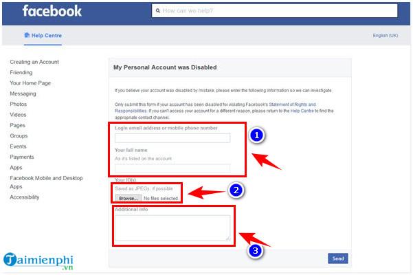 cach mo khoa nick facebook bi report don gian nhat