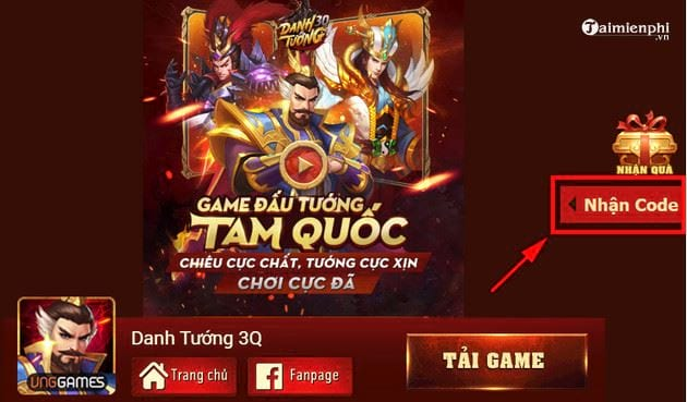 cach nhan code danh tuong 3q 2