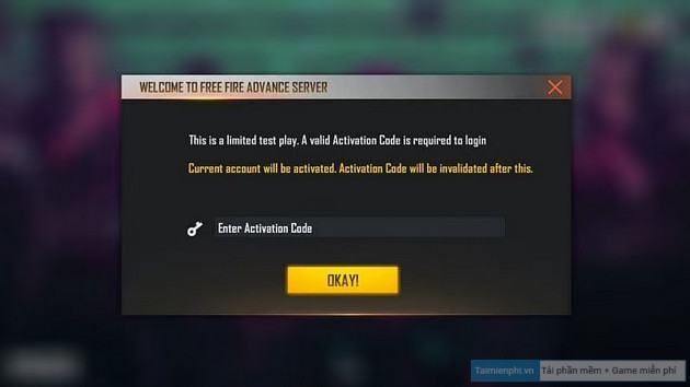 cach lay activation code free fire ob26 advance server
