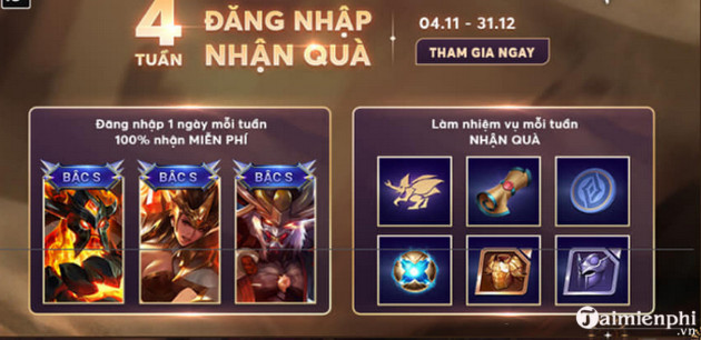 cach nhan mien phi skin bac s ryoma nguyet toc lien quan mobile 2