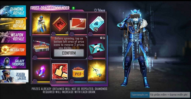 how to change skin aug winterlands 2020 in free fire 2