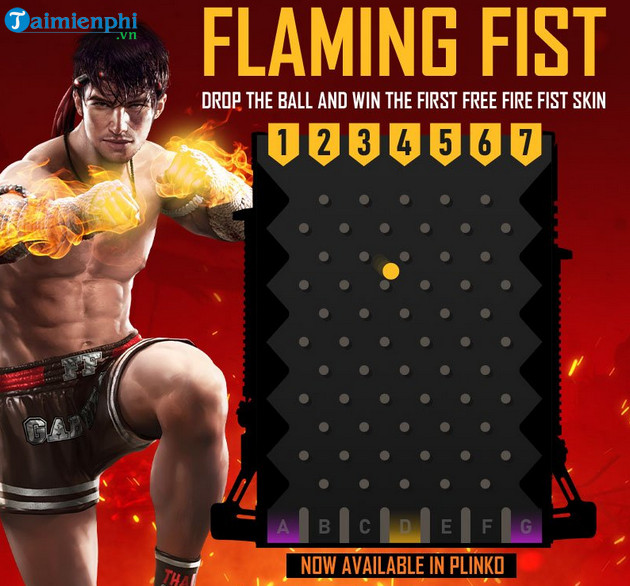 cach nhan skin flaming fist trong garena free fire