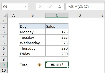 cach sua loi null trong excel 2