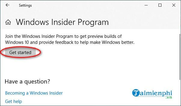 cach tai ban windows 10 20h2 insider 2