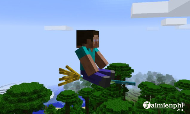 cach tang toc do bay trong minecraft