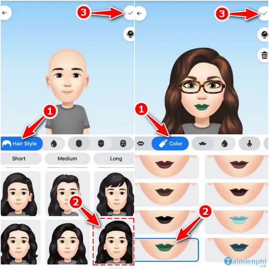 How to create a facebook avatar in an animated style