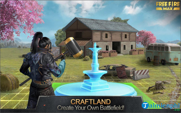 cach tao ban do trong che do craftland free fire max 2