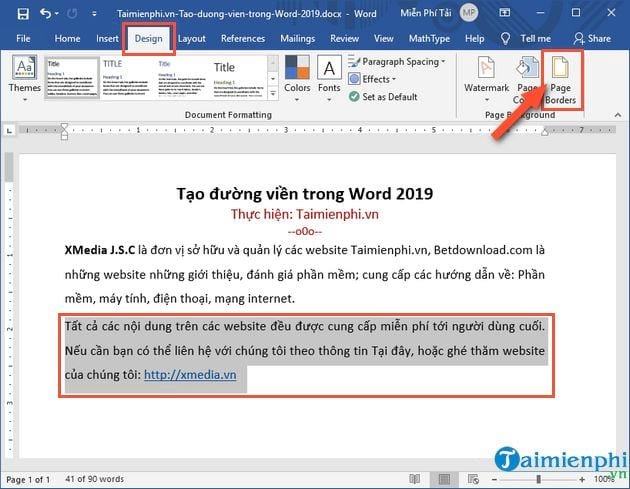 cach tao duong vien trong word 2019 2