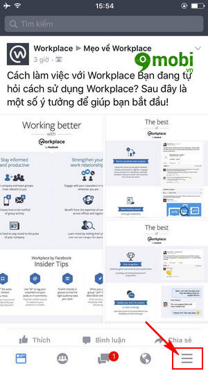 cach tao su kien tren facebook workplace 2