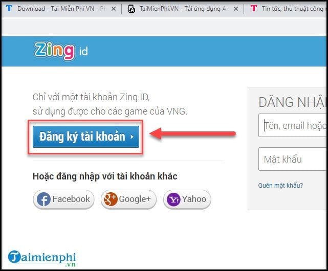 cach tao tai khoan zing speed mobile 2