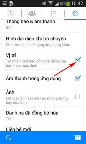 tat dinh vi tren Android