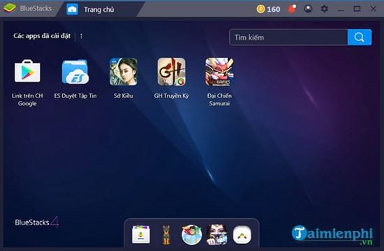 cach tim va tai ung dung game tren bluestacks 2