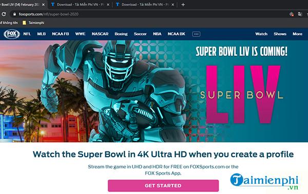 Cách xem trực tiếp Super Bowl 54 trên điện thoại, máy tính