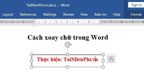 cach xoay chu trong word 2