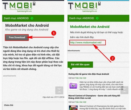 cach cai mobomarket cho android