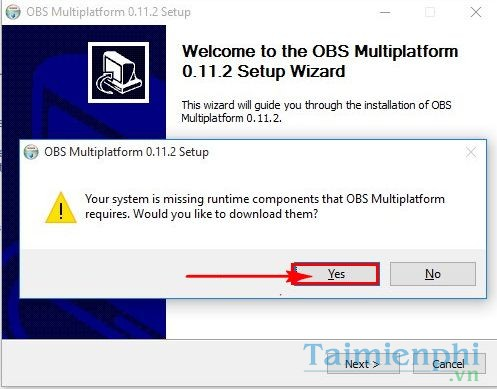 cai obs studio bi loi your system is missing runtime components