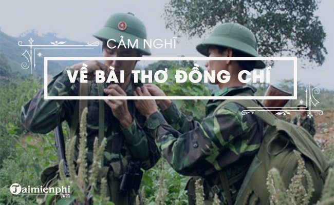 cam nghi ve bai tho dong chi