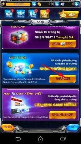 kich hoat Gift Code ccht