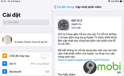 co nen nang cap ios 12 3 khong 2