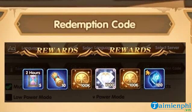 giftcode dau truong afk arena thang 9 2020