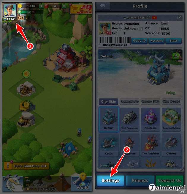 giftcode top war battle game