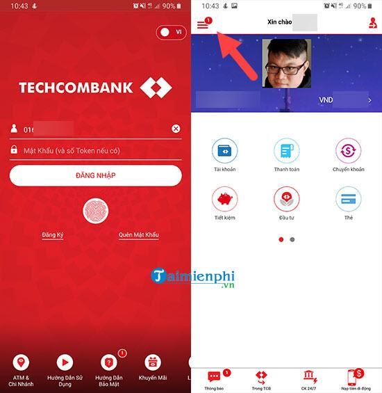 huong dan dang ky techcombank smart otp lay ma xac thuc 2