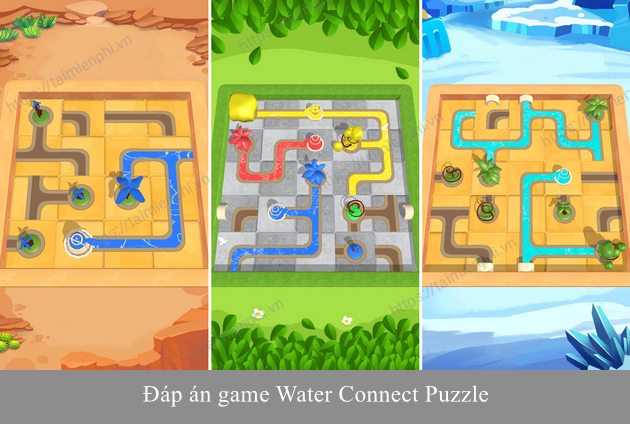 dap an game water connect puzzle