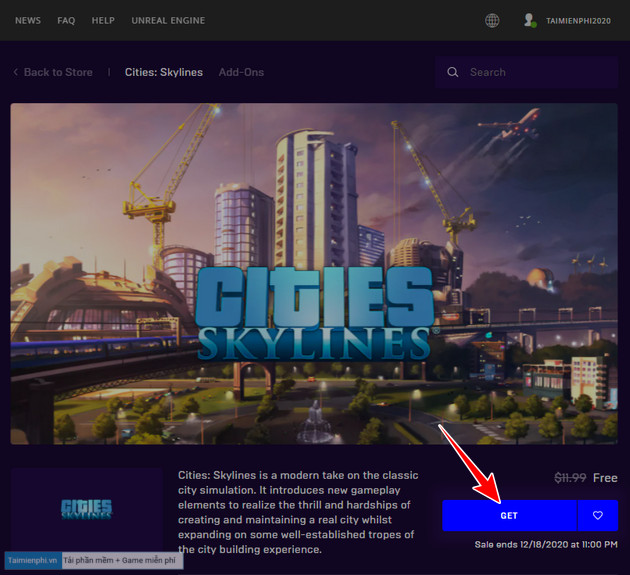 epic games store tang mien phi game cities skylines 2