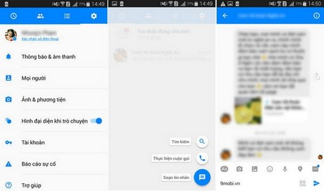 tai facebook messenger android