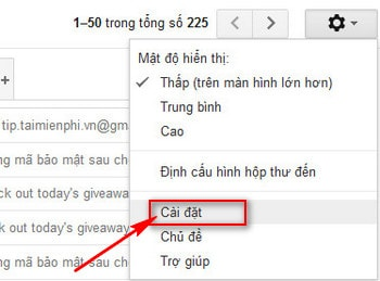 cach forward email trong gmail