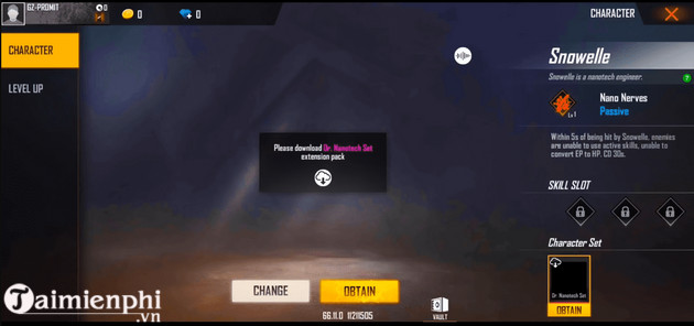 free fire ob25 new year snowelle and chrono 2