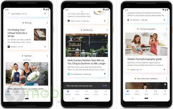 google feed duoc doi ten thanh discover 2