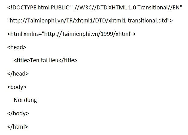 HTML và XHTML, khái niệm về cách sử dụng