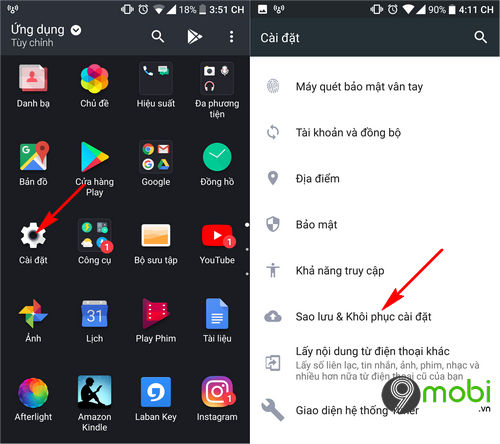 huong dan cach reset dien thoai android 2