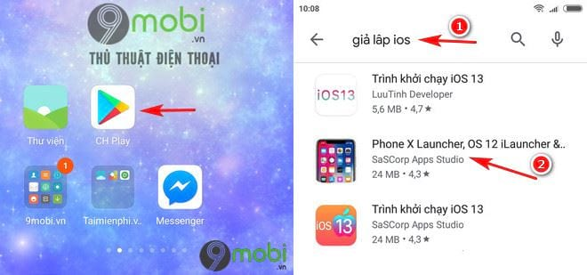 huong dan cai dat su dung ung dung ios tren dien thoai android 2