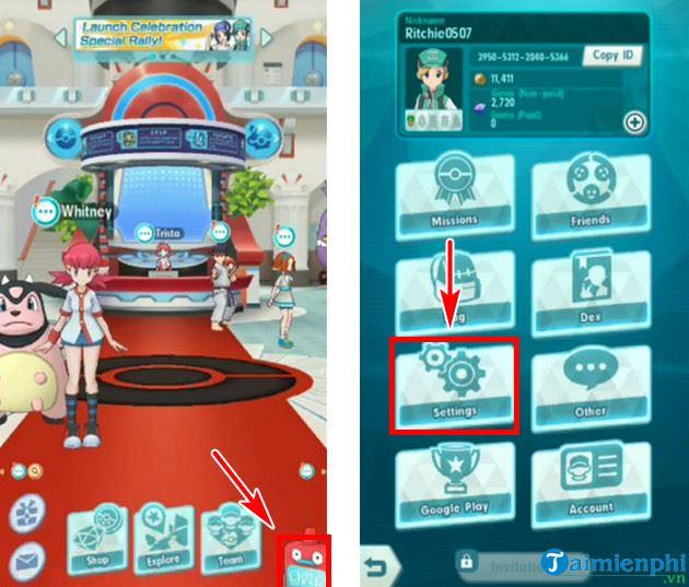 huong dan doi ten nhan vat choi pokemon masters 2