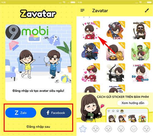 huong dan dung sticker avengers endgame trong facebook messenger 2