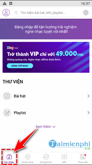 Huong dan cach dung Zing Mp3 tren Android và iPhone