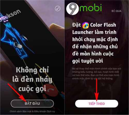 huong dan su dung ung dung color flash launcher 2