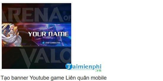 huong dan tao banner youtube game lien quan mobile 2