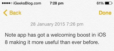 cach dinh dang chu trong Notes tren iOS 8