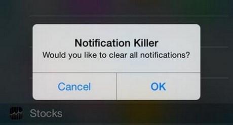 xoá sạch thông báo trên iPhone 6