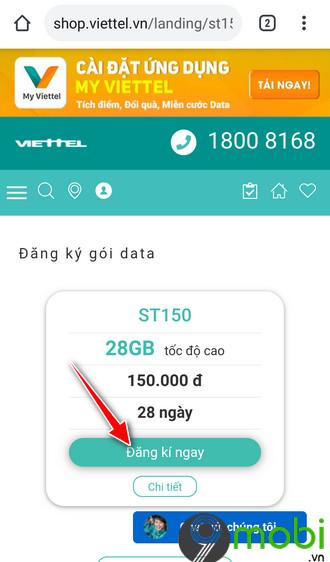dang ky goi st150 viettel