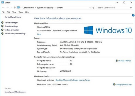 Active Windows 10, Win license activation 10 180 days